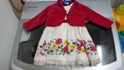 Floral dress with jacket 9 months
