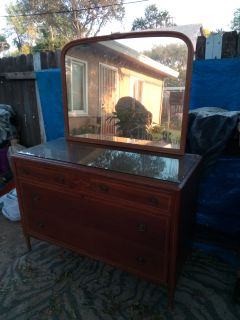 Golden Oak Antique Dresser