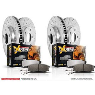 Sell Power Stop K6560-36 Truck and Towing Z36 Brake Pad & Rotor Kit Cross-Drilled and motorcycle in Delaware, Ohio, United States, for US $400.99
