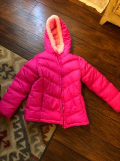 Girls pink 7/8 winter coat
