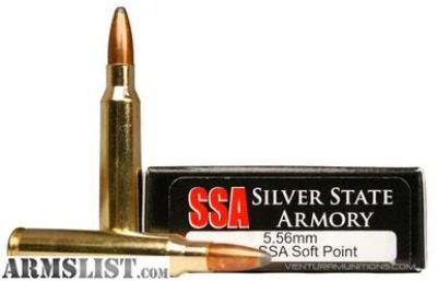 For Sale: Silver State Armory 5.56mm 63gr Sierra SP
