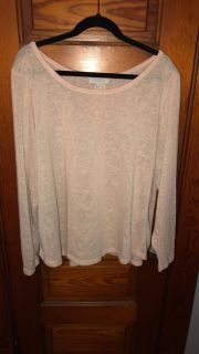 Forever21+ Lt. Pink Sheer Sweater w/ Button Down BACK