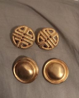 2 pairs of authentic givenchy earrings