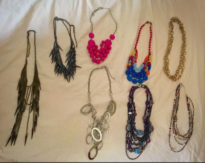 Lot of 8 Fashion Necklaces only $5!!!!