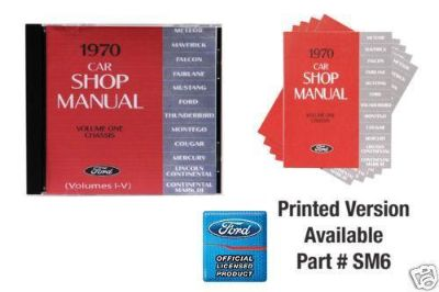 Buy 1970 FORD MUSTANG/COUGAR/FORD SHOP MANUAL ON CD ROM motorcycle in Lawrenceville, Georgia, US, for US $21.95