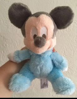 Walt Disney world Soft Mickey Mouse with a built in rattle