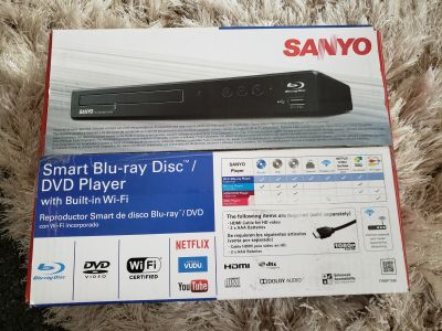 Sanyo Blu-ray/DVD player with built in wifi.