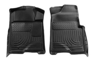 Sell Husky Liners 18331 09-13 Ford F-150 Black Custom Floor Mats 1st Row motorcycle in Winfield, Kansas, US, for US $96.95