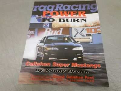 Sell Very Rare Kenny Brown - Chuck Callahan Super Mustang Dealer Brochure GT-40A motorcycle in Franklin, Indiana, United States, for US $3.02