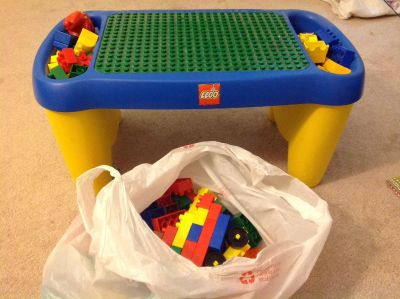 Lego Duplo Lap Table with storage