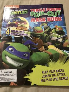 Nickelodeon teenage mutant ninja turtles softcover book Masks not included