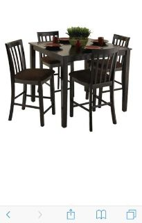 $400, Counter height dinning table with 6 chairs