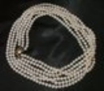STUNNING VINTAGE LOOK CULTURED PEARL NECKLACE