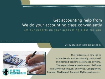Get accounting help from We do your accounting class conveniently