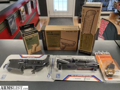 For Sale: SATURDAY DEAL IS GOING TO BE A GREAT ONE - FOR AN AMAZING PRICE YOU GET AN ANDERSON UPPER AND LOWER RECEIVER, UPPER PARTS KIT AND MAGPUL SAND COLORED SL HANDGUARD GRIP AND STOCK ALL WEEKEND LONG.