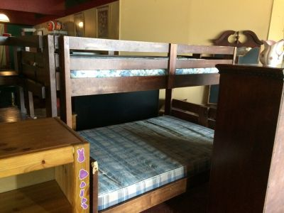 Twin Over Full Wood Bunkbed w/Drawers In Stairs