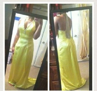 $100 yellow formal gown