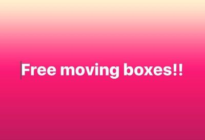 Free moving boxes, pick up today