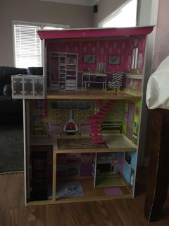 Barbie house with elevator and stairs