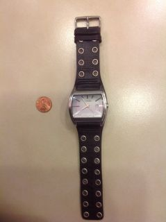 Fossil Watch w/ studded black leather