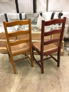 New Dining chairs, ladderback, 2 colors avail.