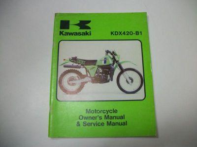 Find Kawasaki Service Manual KDX420 1981 KDX420-B1 KDX420B1 OEM Factory motorcycle in Colorado Springs, Colorado, US, for US $26.95