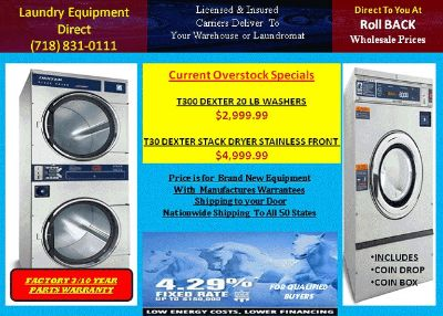 $89, laundry laundromat washers dryers laundrymat equipment