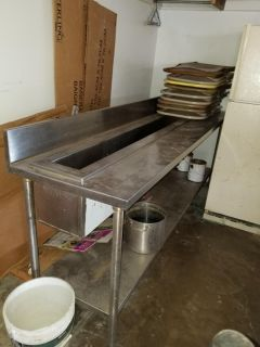 Stainless Restaurant drink table