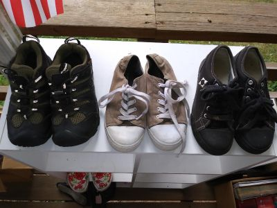 Lot of boy/girl shoes size 3. Pick up in Deer Island.