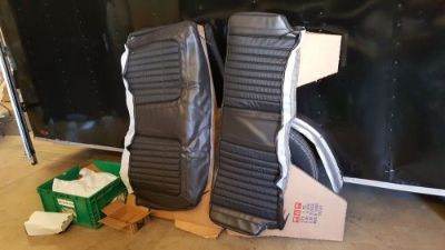 Sell 1969 Camaro Deluxe Black Comfortweave rear seat covers coupe motorcycle in LaGrange, Georgia, United States, for US $145.00
