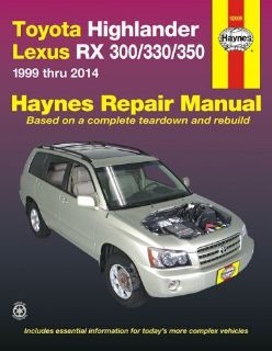 Find Toyota Highlander 2001-2014, Lexus RX300/330/350 1999-2014 Repair Manual motorcycle in Richardson, Texas, United States, for US $21.95