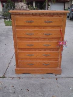 Solid wood chest of drawers-5