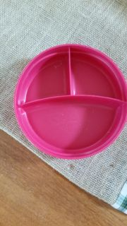 Pink divided baby plate