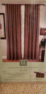 4 panels of thick fabric curtains
