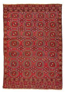 Handmade antique Turkmen Saryk rug, 1B173