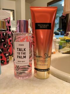 Victoria's Secret Pink spray and lotion