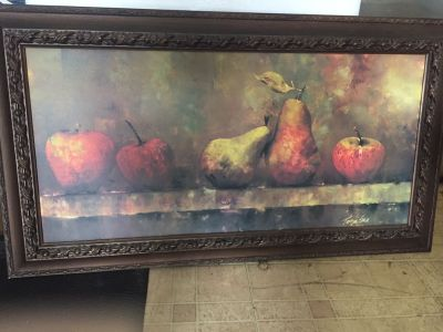 Fruit print on canvas ! Perfect Dining Room or Kitchen wall decor