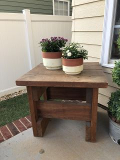 Wood End Table 22