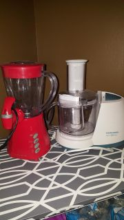 Food Processor and Blender $ 8 each or both for $13