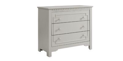 GRAY BABY RELAX TERI 3 DRAWER DRESSER AND TOPPER changing table - SOFT GRAY