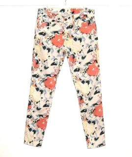 Gap 1969 Floral Legging Jeans Womens Tag 27r 27 Stretch Measures 28 x 28