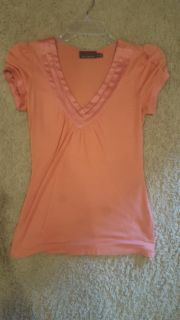 Peach Limited v-neck blouse- XS