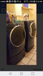Kenmore Elite Gas Top Loader Washer And Dryer Set Excellent Condition