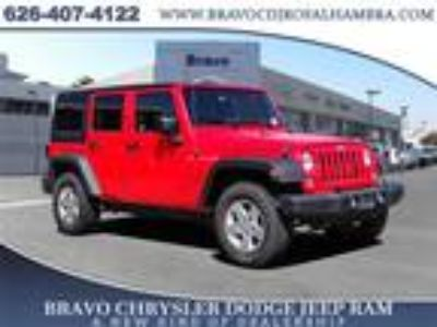 Used 2018 Jeep Wrangler JK Unlimited Red Clearcoat, 34.5K miles