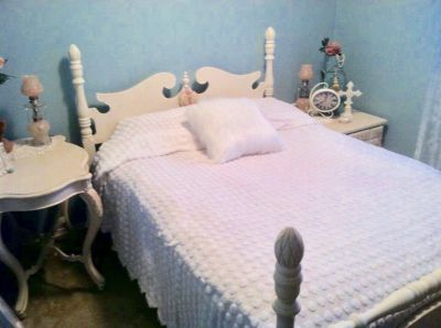 Full size bed frame. Head & foot boards and rails.