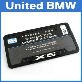 Find Genuine BMW X5 Black Stainless Steel License Plate Frame motorcycle in Roswell, Georgia, US, for US $36.00