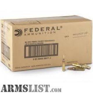 For Sale: 1,000 rounds of Federal 5.56mm (XM193BK)
