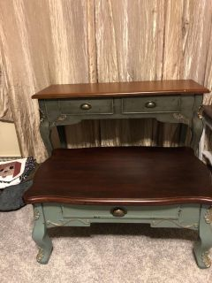 Matching coffee table library table/behind your couch or loveseat