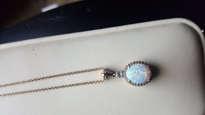 JARED Opal and Diamond Necklace