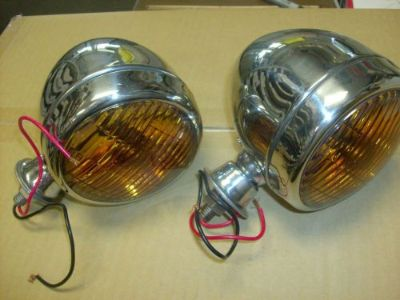 Purchase FOG LIGHTS TEAR DROP STYLE CHEVY BUICK OLDS 1930'S 1940' CHROME 12volt motorcycle in Fullerton, California, United States, for US $99.95